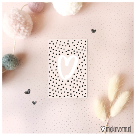 Hart || Mini-kaart || per 5 stuks
