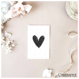 Mini-kaart || groot hart || per 5 stuks
