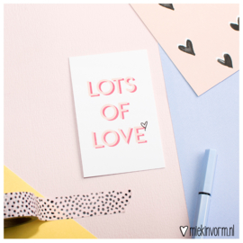 Lots of love || Mini-kaart || per 5 stuks