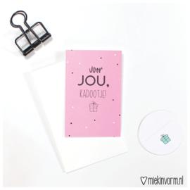 Voor jou, kadootje! || Mini-kaart || per 5 stuks