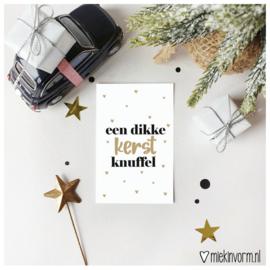 Een dikke kerst knuffel || Mini-kaart || per 5 stuks