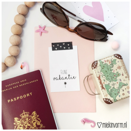 Fijne vakantie || Mini-kaart || per 5 stuks