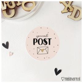 Sticker || speciale post || goudfolie || per doosje 250 stuks