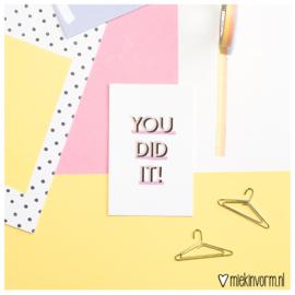 You did it! || Mini-kaart || per 5 stuks
