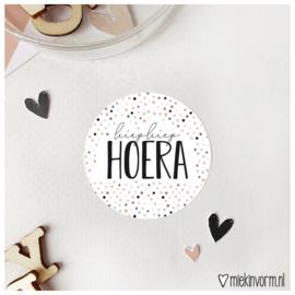 Sticker || hiephiephoera || per doosje 250 stuks