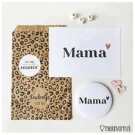 Kadootje voor mama || Spiegel + kaart + sticker  || per 5 st