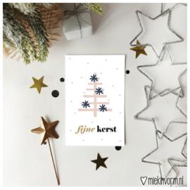 Fijne kerst || Mini-kaart || per 5 stuks
