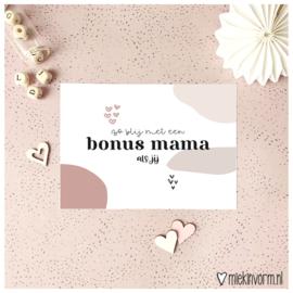 Ansichtkaart || Zo blij met een bonus mama als jij || per 5 stuks