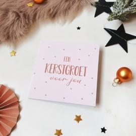 Dubbele ansichtkaart met glitterlak || Een kerstgroet voor jou || per 5 stuks