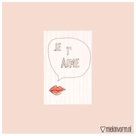 Je t'aime || Mini-kaart || per 5 stuks