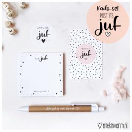 Kadoset juf || Post-its || per 5 st