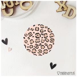 Sticker    Panter roze    per doosje 250 st