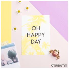 Oh happy day || Ansichtkaart || per 5 stuks