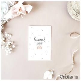 Mini-kaart || Hoera! een baby || per 5 stuks
