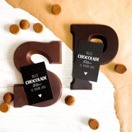 Mini-kaart || Deze chocolade letter is voor jou || per 5 stuks