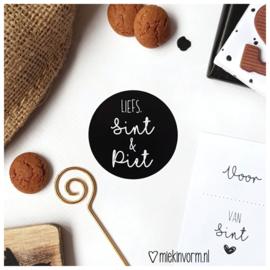 Sticker || Liefs Sint & Piet || per doosje 500 stuks