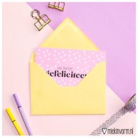 Envelop A6 || geel || per 5 stuks