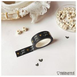 Masking tape || Voor jou goudfolie || per 5 stuks