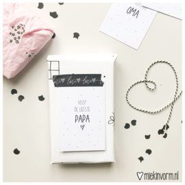 Voor de liefste papa || Mini-kaart || per 5 stuks