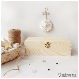 Houten box voor mini-kaarten    3 vakken