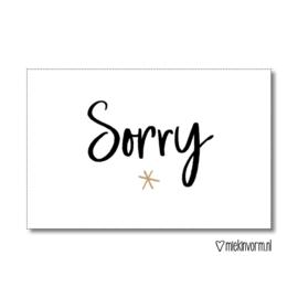 Sorry || Kadolabel || per 5 stuks