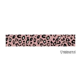 Masking tape || panterprint donkerroze || per 5 stuks