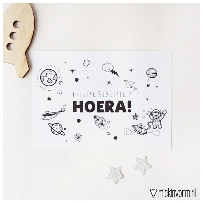 Hieperdepiep Hoera!    Ansichtkaart    per 5 stuks