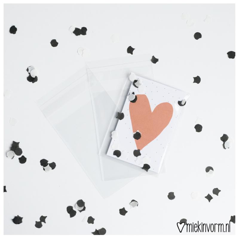 Transparante zakjes || Mini-kaarten || per 50 stuks