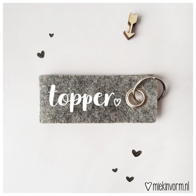 Sleutelhanger || topper || per 5 stuks