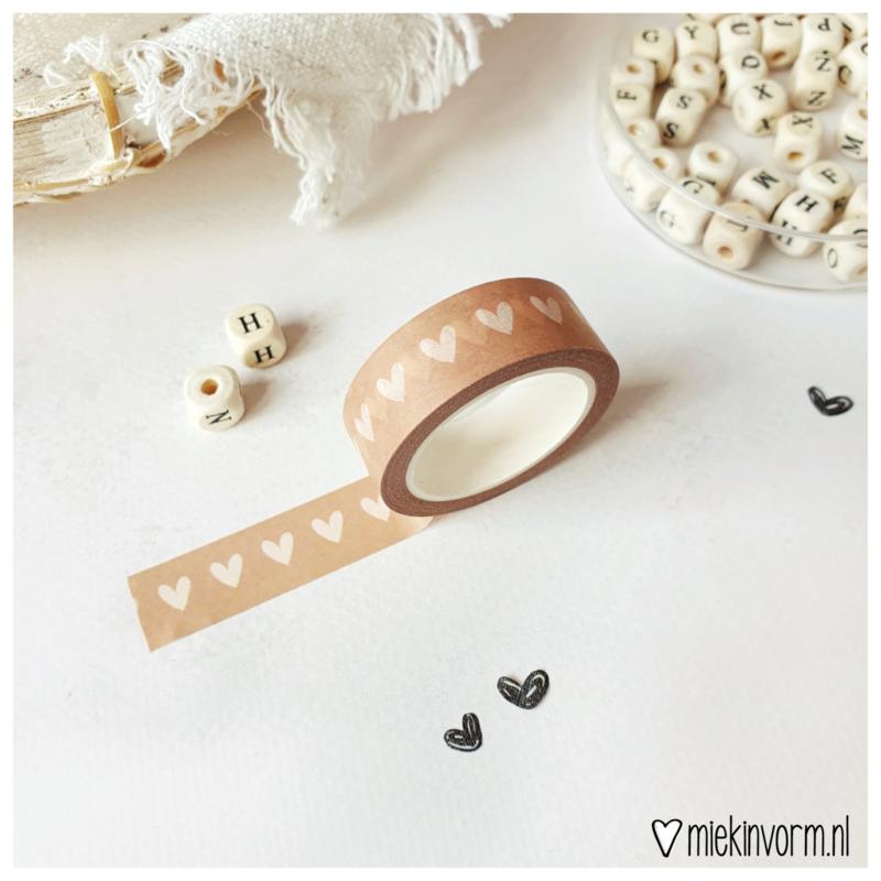 Masking tape    Hartjes roestkleur    per 5 stuks