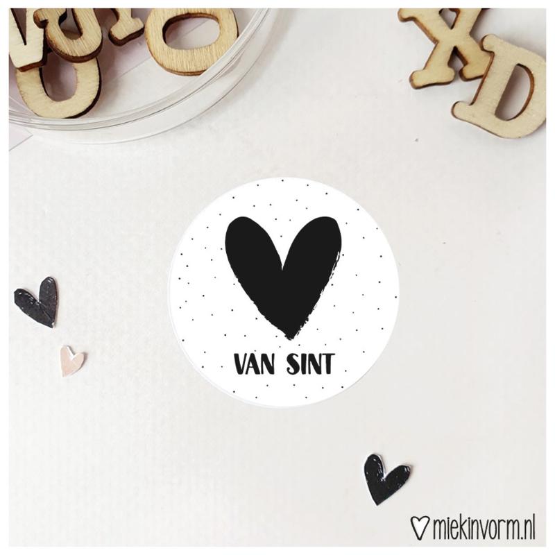 Sticker || Van sint || per doosje 250 stuks