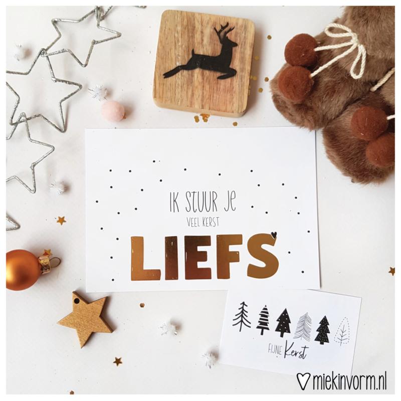 Ik stuur je veel kerstliefs    Ansichtkaart    per 5 stuks