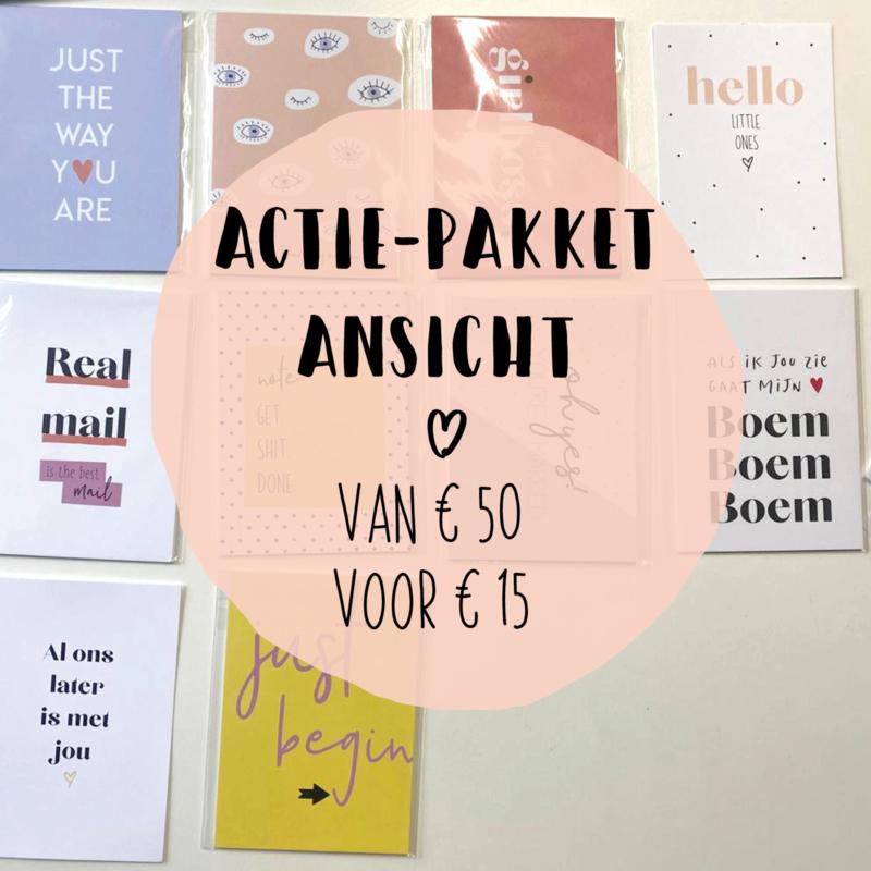 Actie-pakket Ansichtkaarten || pakket 1 || 100 stuks