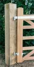 Eiken poortpaal 15 x 15 cm
