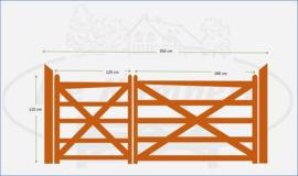 Dubbele poort 1,20 x 1,80m