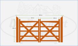 Dubbele poort 1,20 x 1,20m