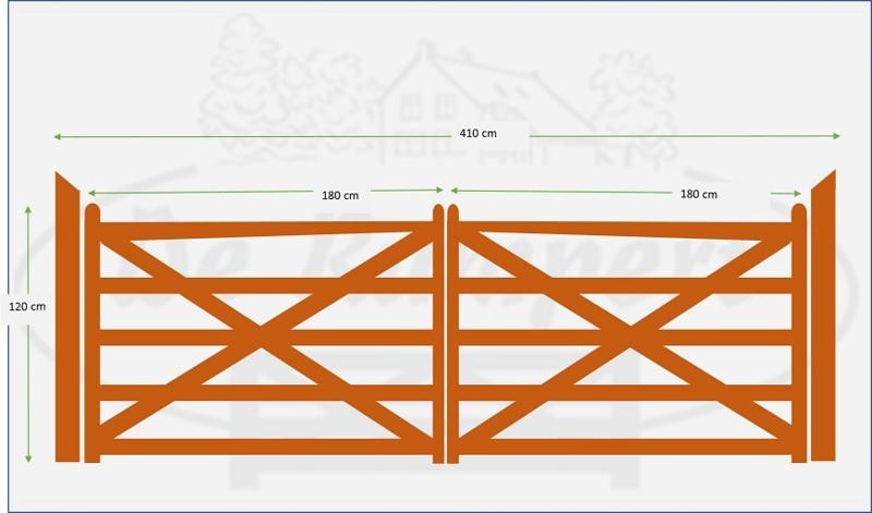 Dubbele poort 1,80 x 1,80m