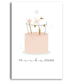 Gift Tag | It's cake o'clock