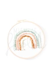 Regenboog wandhanger Pastelkleuren ø15cm