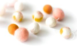 DOT.| Viltslinger oker/white/peach + special edition oker/peach/wit