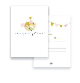 Invitation A6 | It's Party Time Fish (Dutch)