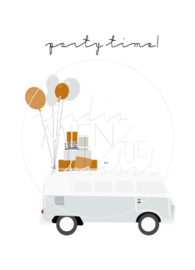 Uitnodiging A6 Party Time Mini Van
