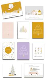 Set van 5 kerstkaarten