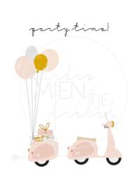 Invitation A6 | Party Time Vespa (Dutch)