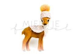Bambi Bruin Roze Glitter / Okergeel