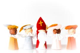 Sinterklaasfiguren | Sint + 4 Pieten (naar keuze)