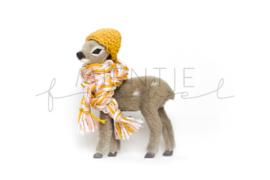 Bambi Grijs Oker/Lichtmint/Roze