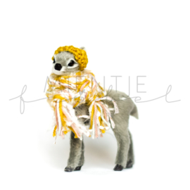 Bambi Grijs Oker/Roze/Fluffy