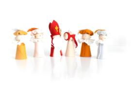 Sinterklaasfiguren | Sint + 4 Pieten + Ozosnel