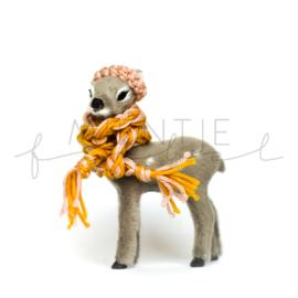 Bambi Grijs Fluffy Oker/Oudroze